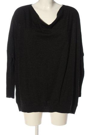 Allsaints Cienki sweter z dzianiny czarny W stylu casual