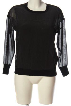 Allsaints Jedwabna bluzka czarny W stylu casual