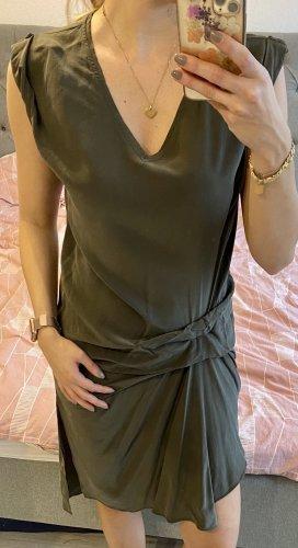 Allsaints Sukienka mini zielono-szary