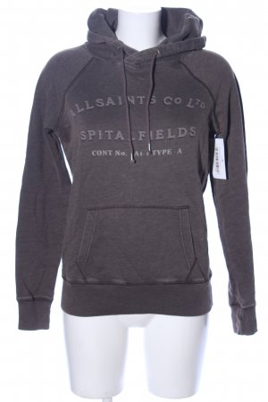 Allsaints Spitalfields Sweatshirt met capuchon bruin gestippeld
