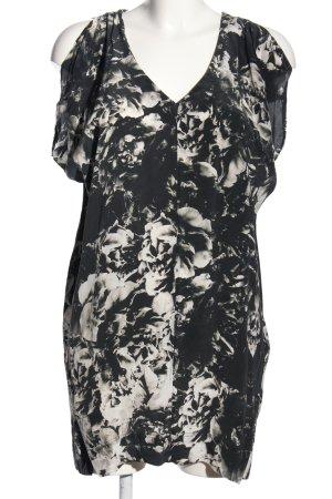 Allsaints Spitalfields Mini Abito nero-grigio chiaro stampa integrale