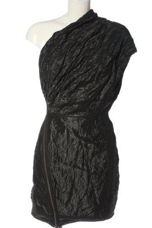 Allsaints Spitalfields Vestido de un hombro negro estilo extravagante