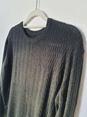All Saints Spitalfields Coarse Knitted Sweater silver-colored-dark blue