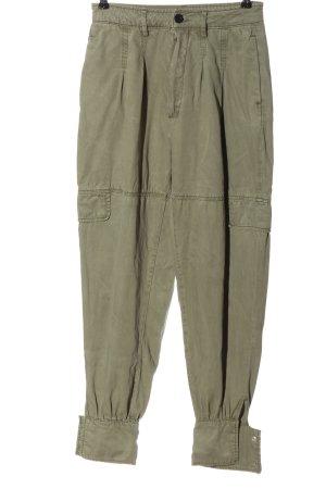 Allsaints Spodnie materiałowe khaki W stylu casual