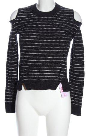 Allsaints Sweter z dzianiny czarny-biały Warkoczowy wzór W stylu casual