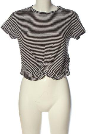 Allsaints Koszulka z dzianiny czarny-biały Wzór w paski W stylu casual