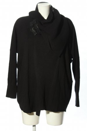 Allsaints Knitted Wrap Cardigan black casual look