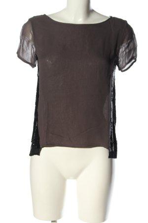 Allsaints T-Shirt braun-schwarz Casual-Look