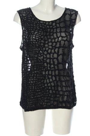 Allsaints Transparentna bluzka czarny Elegancki