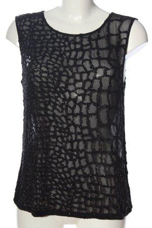 Allsaints Transparentna bluzka czarny W stylu casual