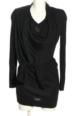 Allsaints Wełniana sukienka czarny W stylu casual