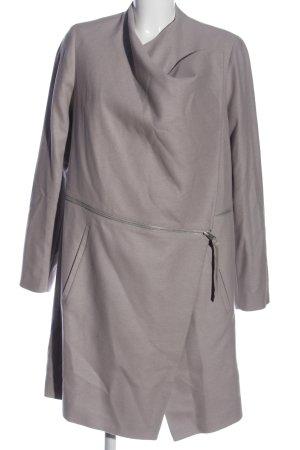 Allsaints Wełniany płaszcz jasnoszary W stylu casual