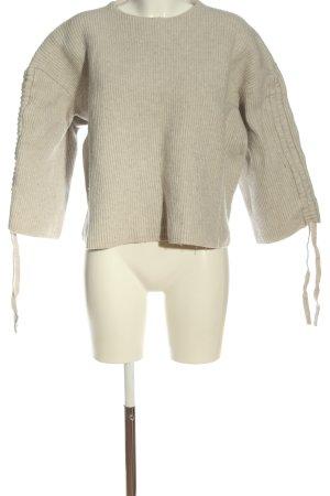Allsaints Wełniany sweter jasnoszary W stylu casual