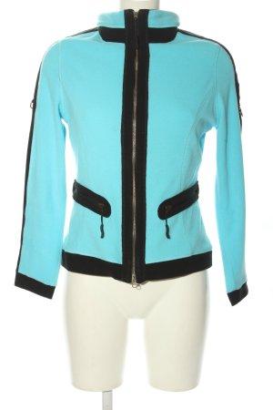 Allsport Veste polaire turquoise-noir style décontracté