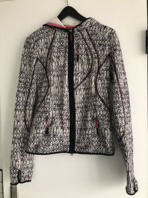 Allsport Fleecejacke mit Kapuze in Strickoptik