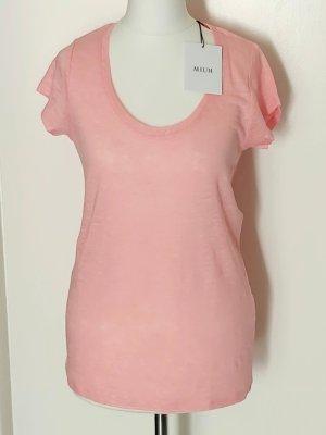 Allude 100% Leinen T-Shirt rose Gr. XS/34 Neu m. Etikett