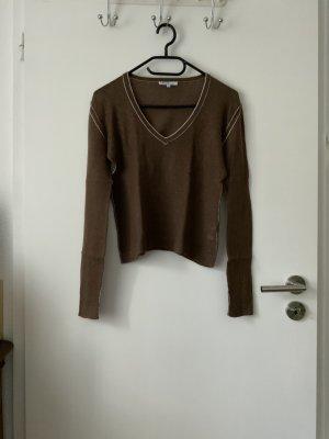 Allude Fine Knit Jumper brown cashmere