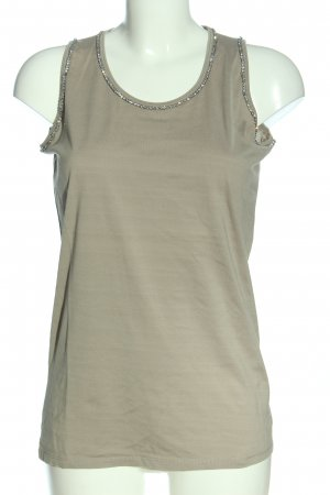 Allude Basic topje khaki casual uitstraling