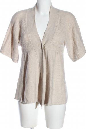Allude Cardigan wollweiß Zopfmuster Casual-Look
