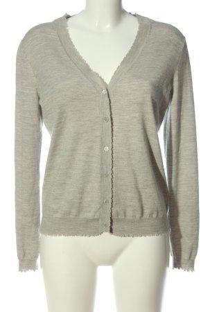 Allude Cardigan grigio chiaro-crema puntinato stile casual