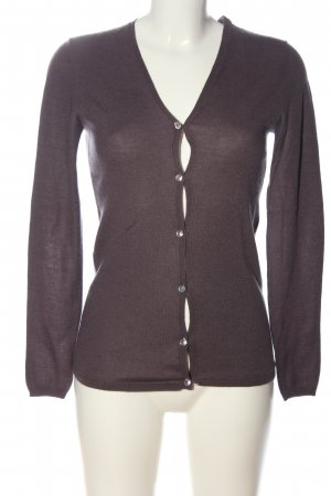 Allude Cardigan brown flecked casual look