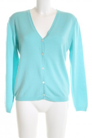 Allude Cardigan turquoise casual look