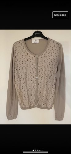 Allude Cardigan grey brown-beige cotton