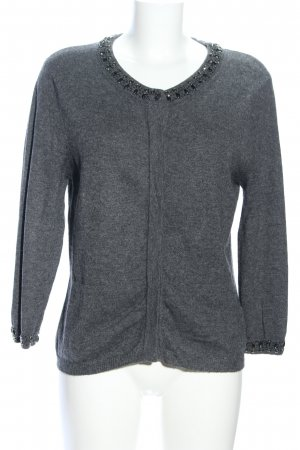 Allude Cardigan light grey flecked casual look