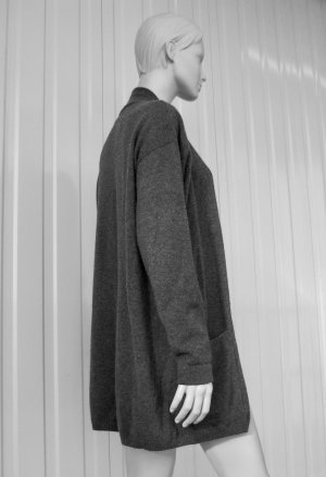 Allude Knitted Cardigan grey cashmere