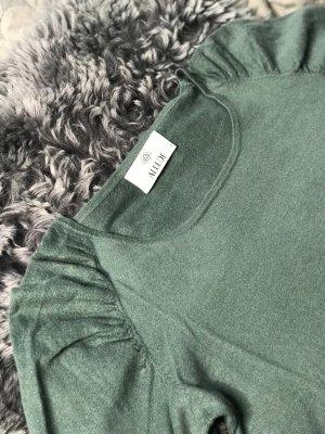 Allude Kaszmirowy sweter zielony-szaro-zielony Kaszmir