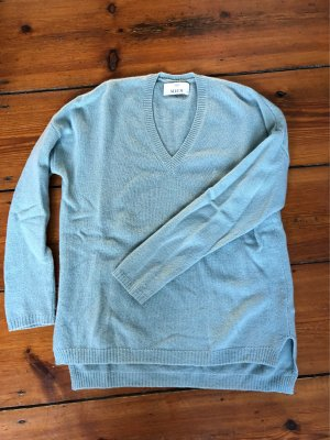 Allude V-Neck Sweater turquoise cashmere
