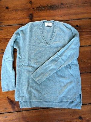 Allude Sweter z dekoltem w kształcie litery V turkusowy