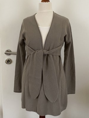 Allude Knitted Cardigan grey brown
