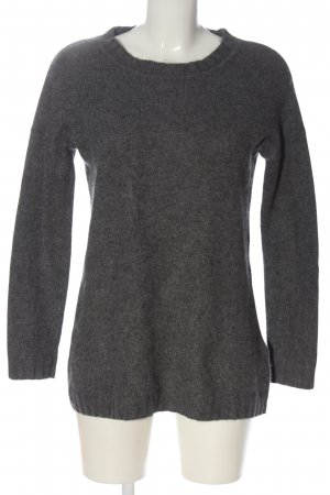 Allude Cashmere Jumper light grey flecked casual look