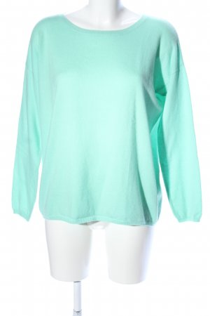 Allude Cashmerepullover türkis Casual-Look