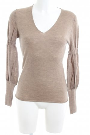 Allude Cashmere Jumper natural white flecked casual look