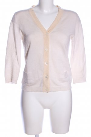 Allude Cashmerepullover wollweiß-nude Business-Look