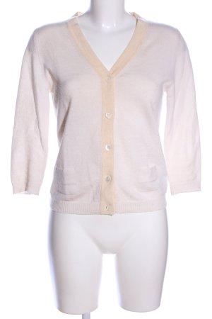 Allude Sudadera de cachemir blanco puro-nude estilo «business»