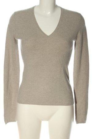 Allude Kaszmirowy sweter kremowy Melanżowy W stylu casual