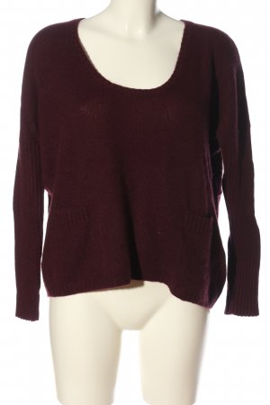 Allude Cashmerepullover rot Casual-Look