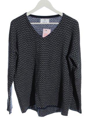 Allude Cashmere Jumper black-light grey allover print casual look