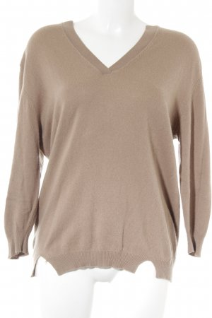 Allude Cashmerepullover hellbraun Casual-Look