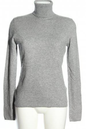 Allude Cashmerepullover hellgrau meliert Casual-Look