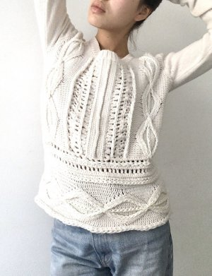 Allude Wool Sweater cream wool