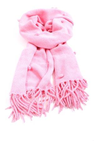 Allude Sciarpa con frange rosa stile casual