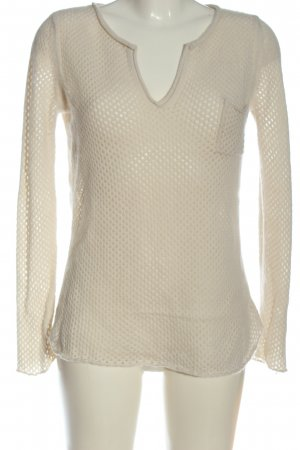 Allude Crochet Sweater natural white casual look