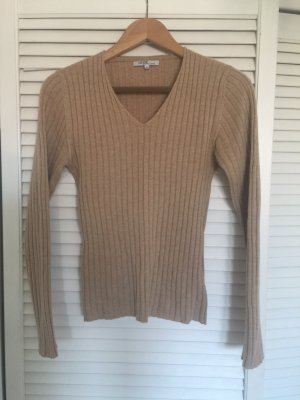 Allude V-Neck Sweater beige-camel