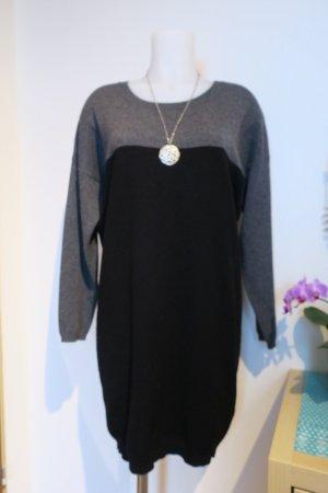 Allude Swetrowa sukienka szary-czarny Kaszmir