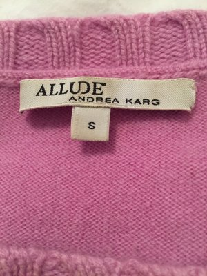 Allude Fine Knitted Cardigan pink-mauve