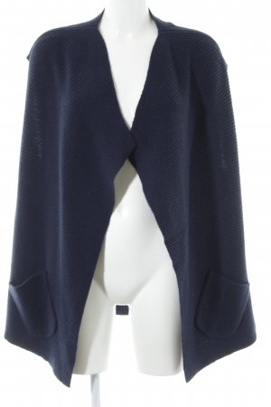 Allude Short Sleeve Knitted Jacket dark blue casual look